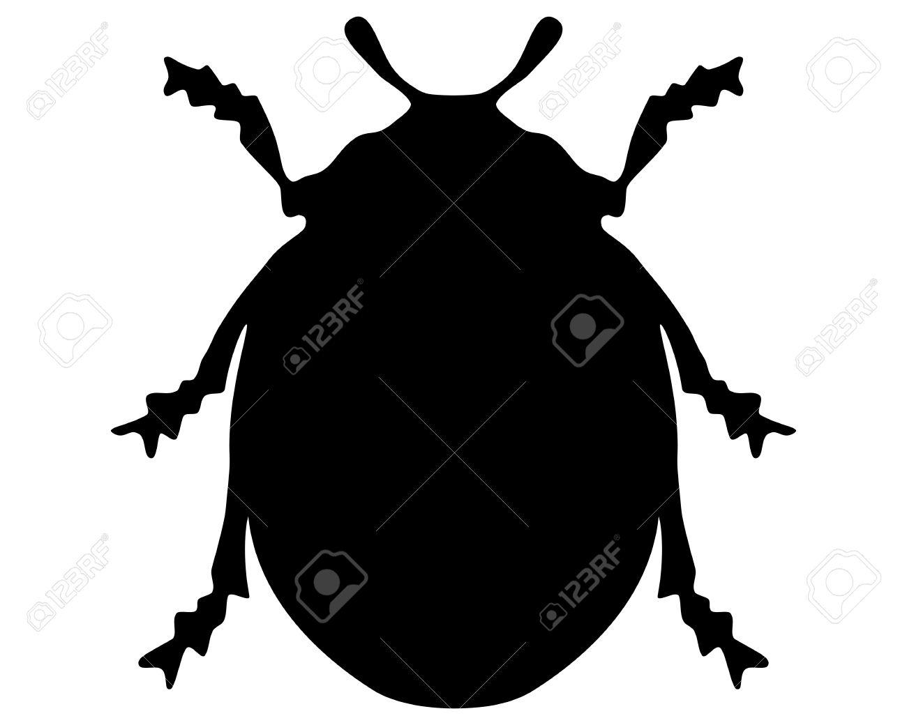 1300x1040 Ladybug Silhouette