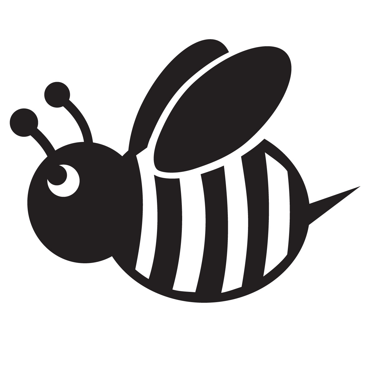 1200x1200 Bees Clipart Silhouette