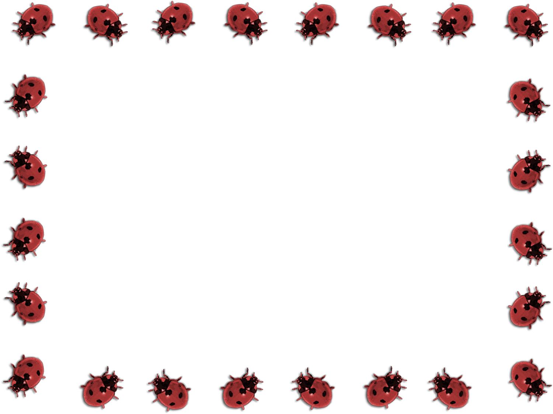 1500x1125 Lady Beetle Clipart Border