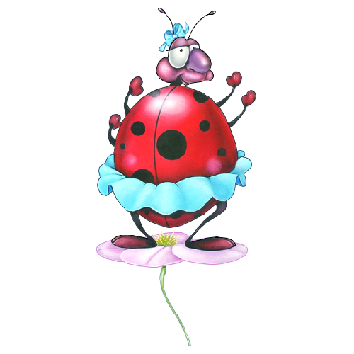 500x500 Ladybug Cartoon Insect Images Free To Copy For Your Own Personal