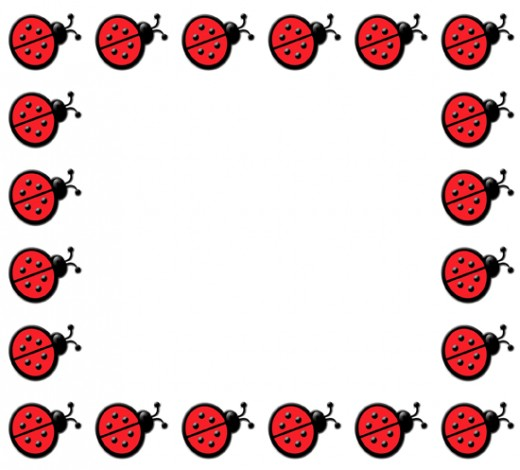 520x470 Ladybug Clipart Border