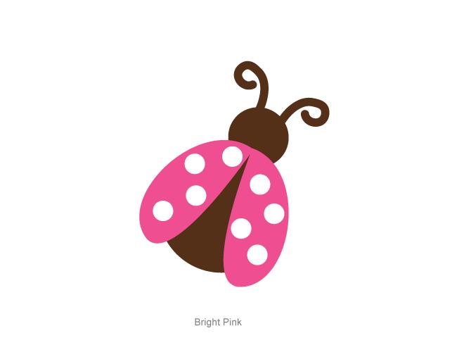 660x500 Pink Ladybug Clipart