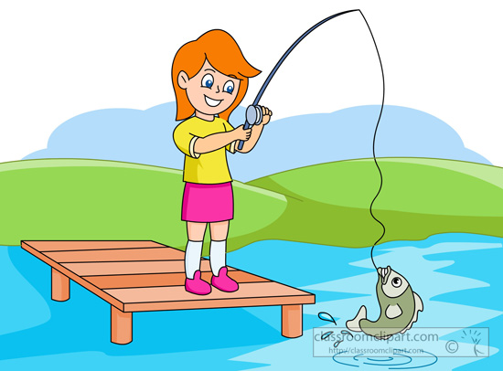 550x406 Lake Fishing Clipart