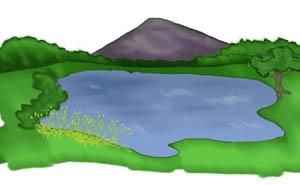 300x185 Lake Scene Clip Art