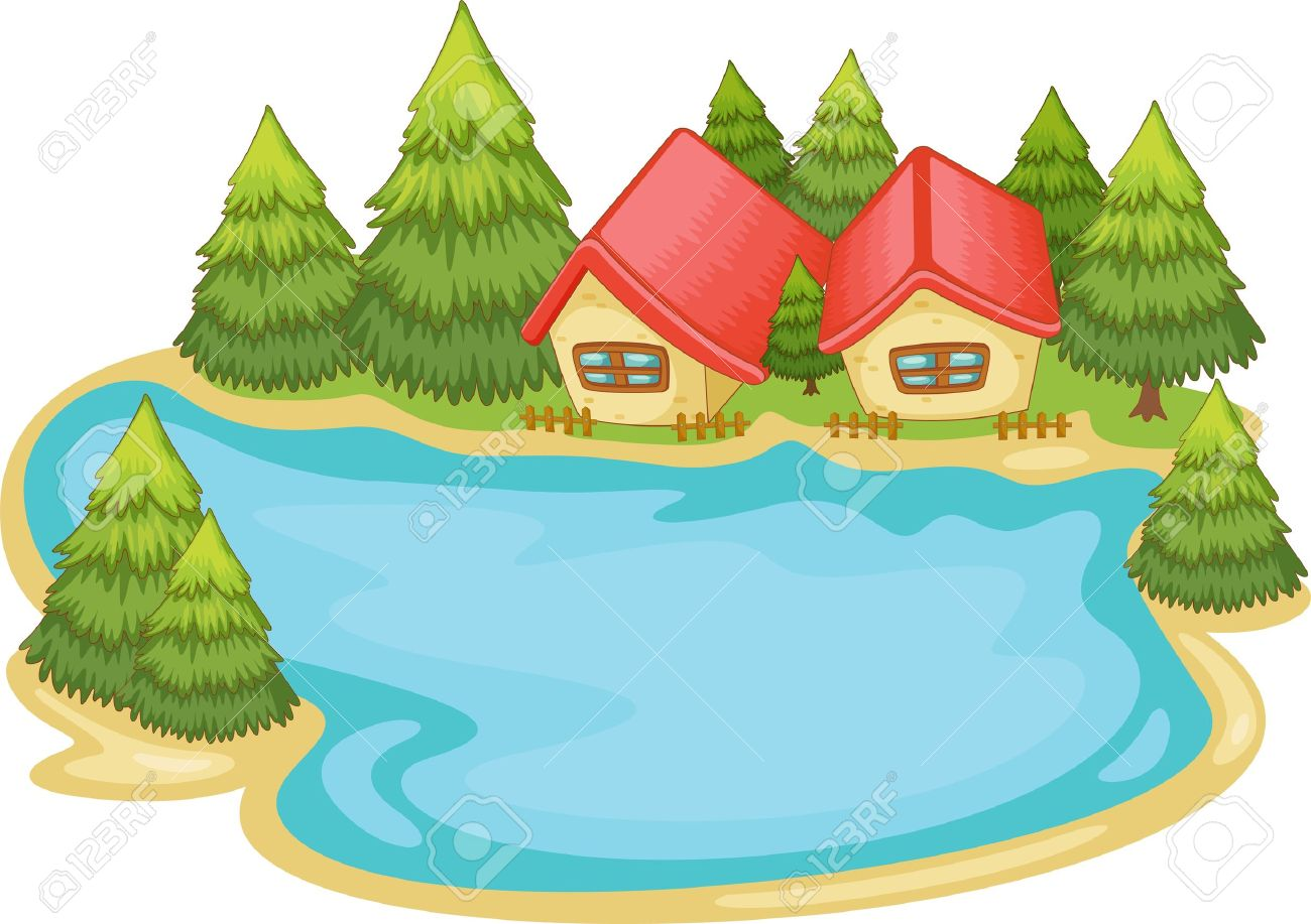 1300x917 Lake Clipart Fish Pond