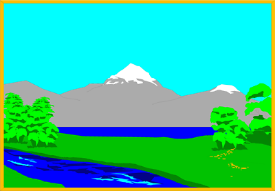 400x277 Lake clipart mountain landscape