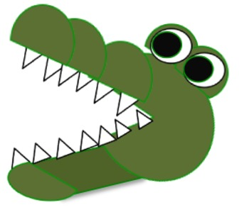 350x299 Crocodile clipart lake