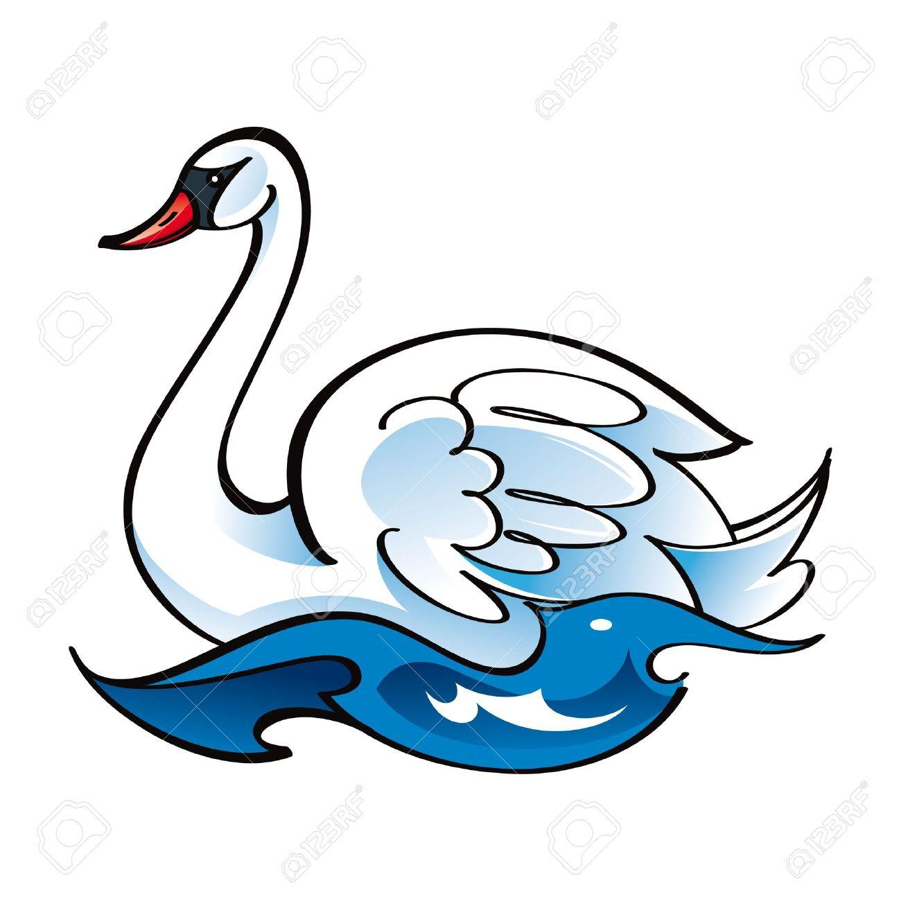 1300x1300 Black Swan Clipart Swans Swimming