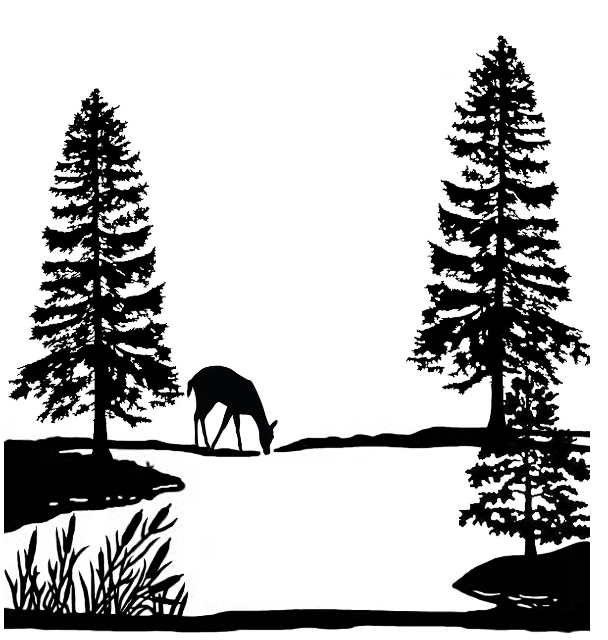 1228x1293 Lake Clipart Forest