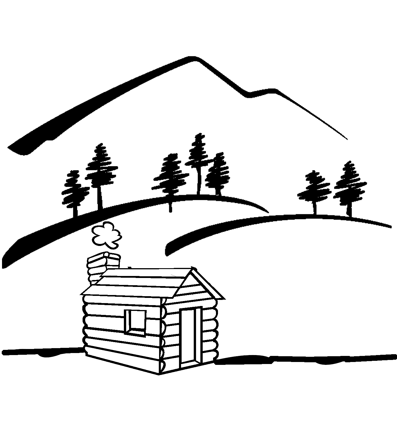 1375x1500 Lake clipart woods
