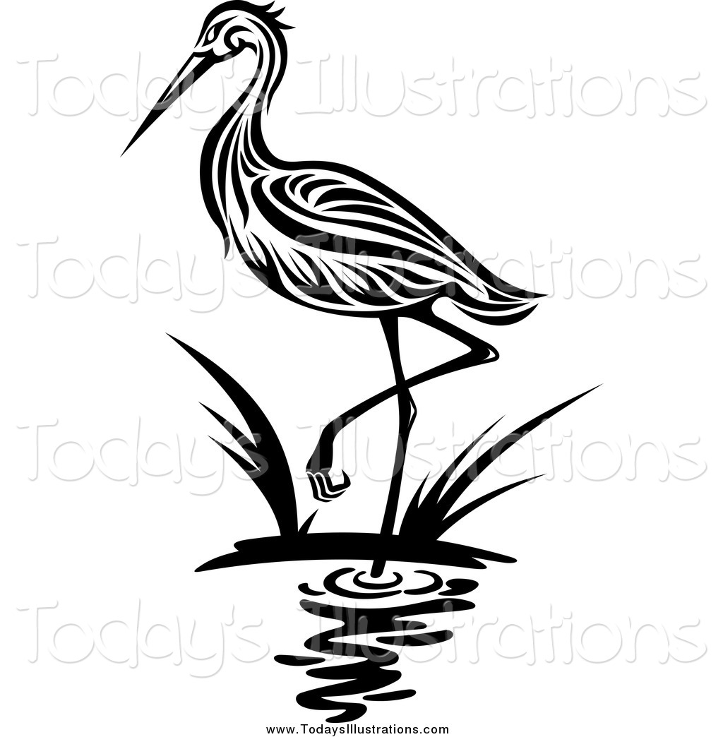 1024x1044 Blue Heron Clipart Black And White