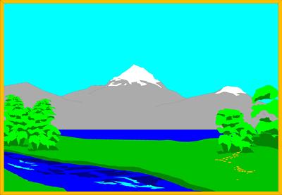 400x277 Clip Art Lake Clipart Image