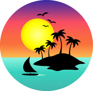 300x293 Lake Sunset Clip Art Cliparts