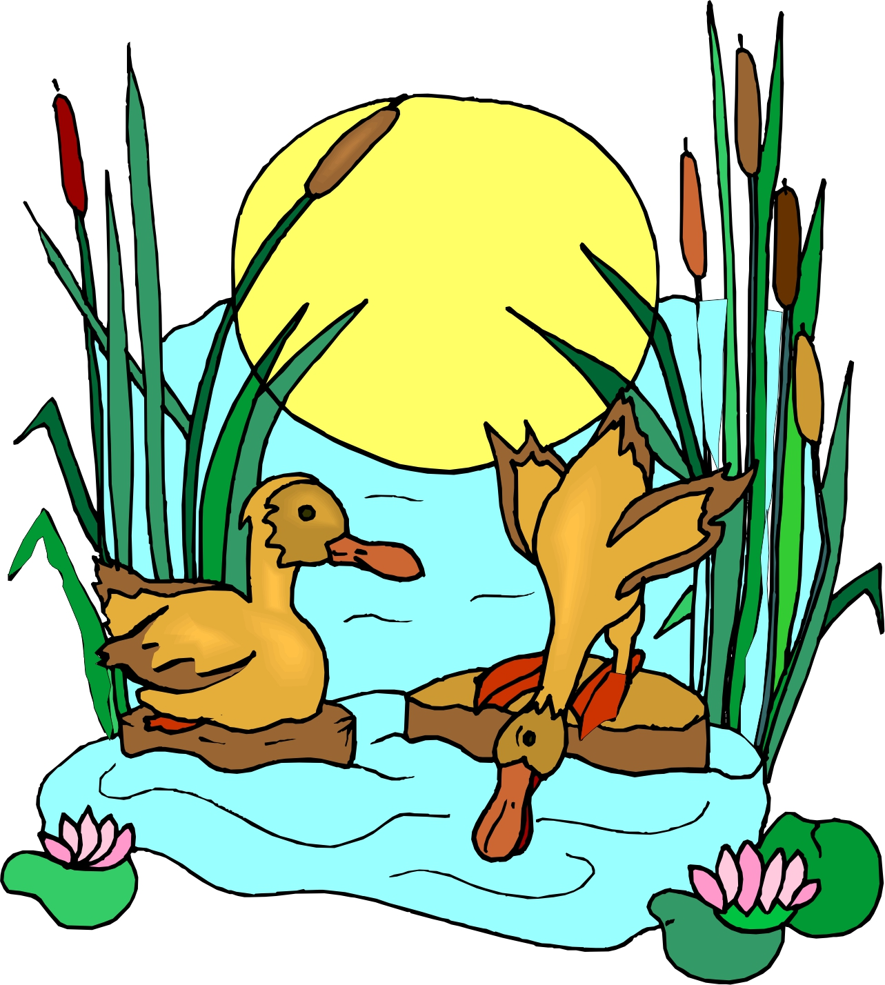 1283x1428 Lake Clipart Duck Pond