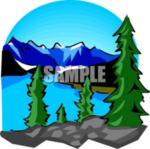 300x298 Mountain Lake Clip Art Cliparts