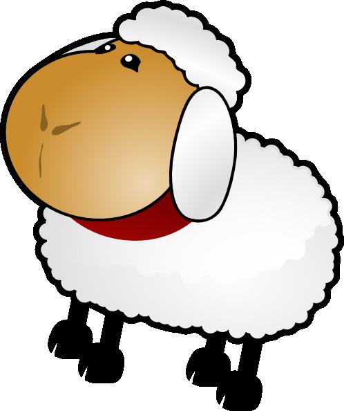 498x594 Sheep, Rotate 3 Clip Art