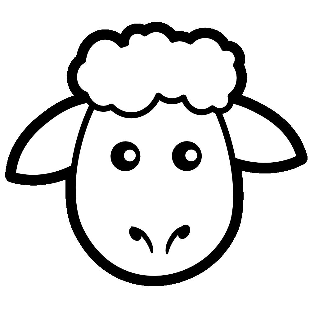 999x999 Sheep Black And White Clip Art Sheep Mask Clipart