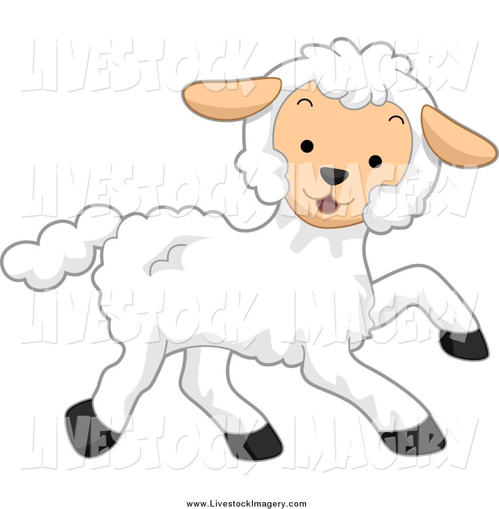 1024x1044 Clip Art Of A Running Happy Lamb By Bnp Design Studio