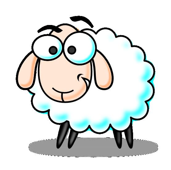555x551 Free Cartoon Sheep Clip Art