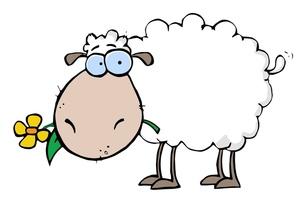300x202 Lamb Clipart Cartoon