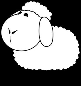 279x299 Sheep Outline Clip Art