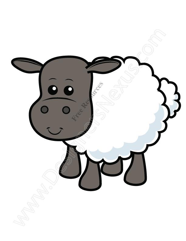 612x792 V9 Cute Sheep Vector Graphic Lamb Clip Art