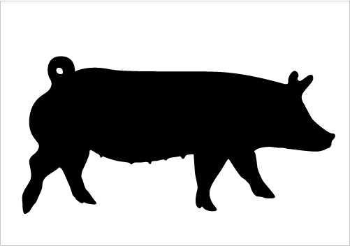 501x352 Show Pig Silhouette Free Download Clip Art Free Clip Art