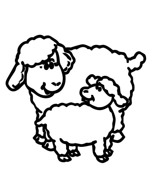 630x810 Lamb Clipart Coloring