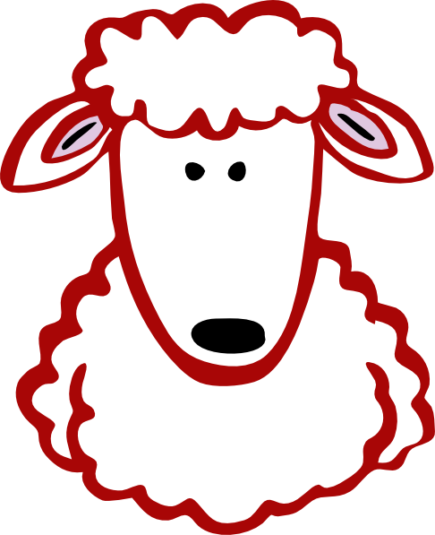 486x597 Red Lamb Clip Art