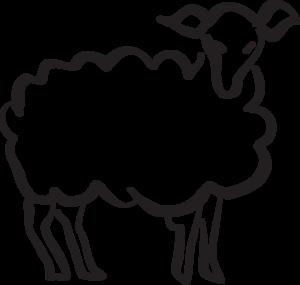 300x285 Stylized Lamb Drawing Clip Art