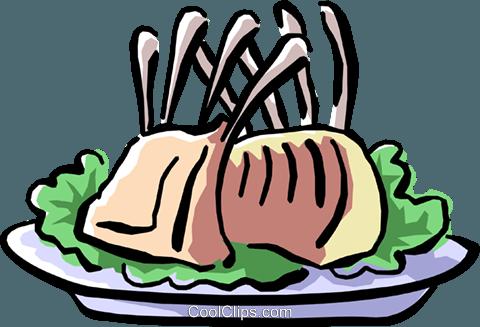480x327 Rack Of Lamb Royalty Free Vector Clip Art Illustration Food0775