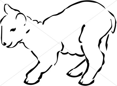 388x285 Lamb Clipart