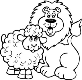 286x282 Lion And Lamb Clipart