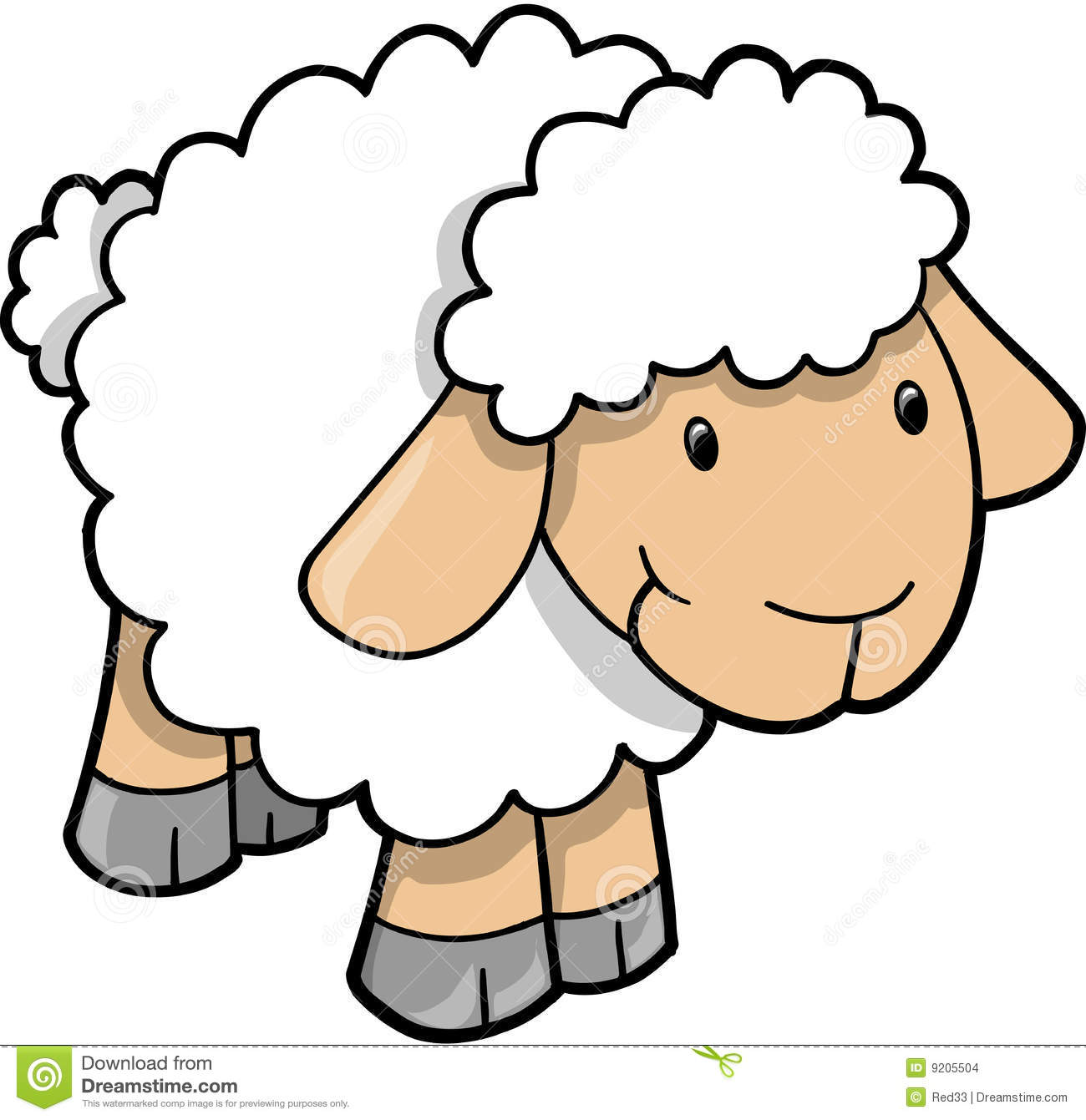 1300x1341 Cute Sheep Images Cute Sheep Lamb Vector Stock Images