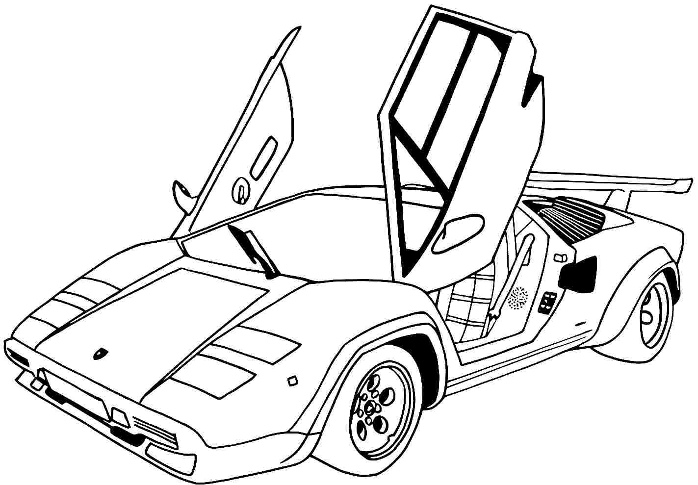 1423x989 Sports Cars Printable Coloring Pages Murderthestout