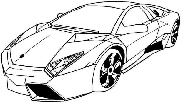 615x351 Transportation Car Coloring Pages Lamborghini