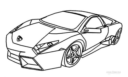 500x300 Coloring Pages Nice Lambo Lamborghini Countach