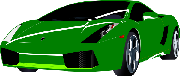 600x254 Lamborghini Clipart Blue Sports Car