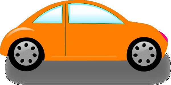 600x301 Orange Car Clip Art