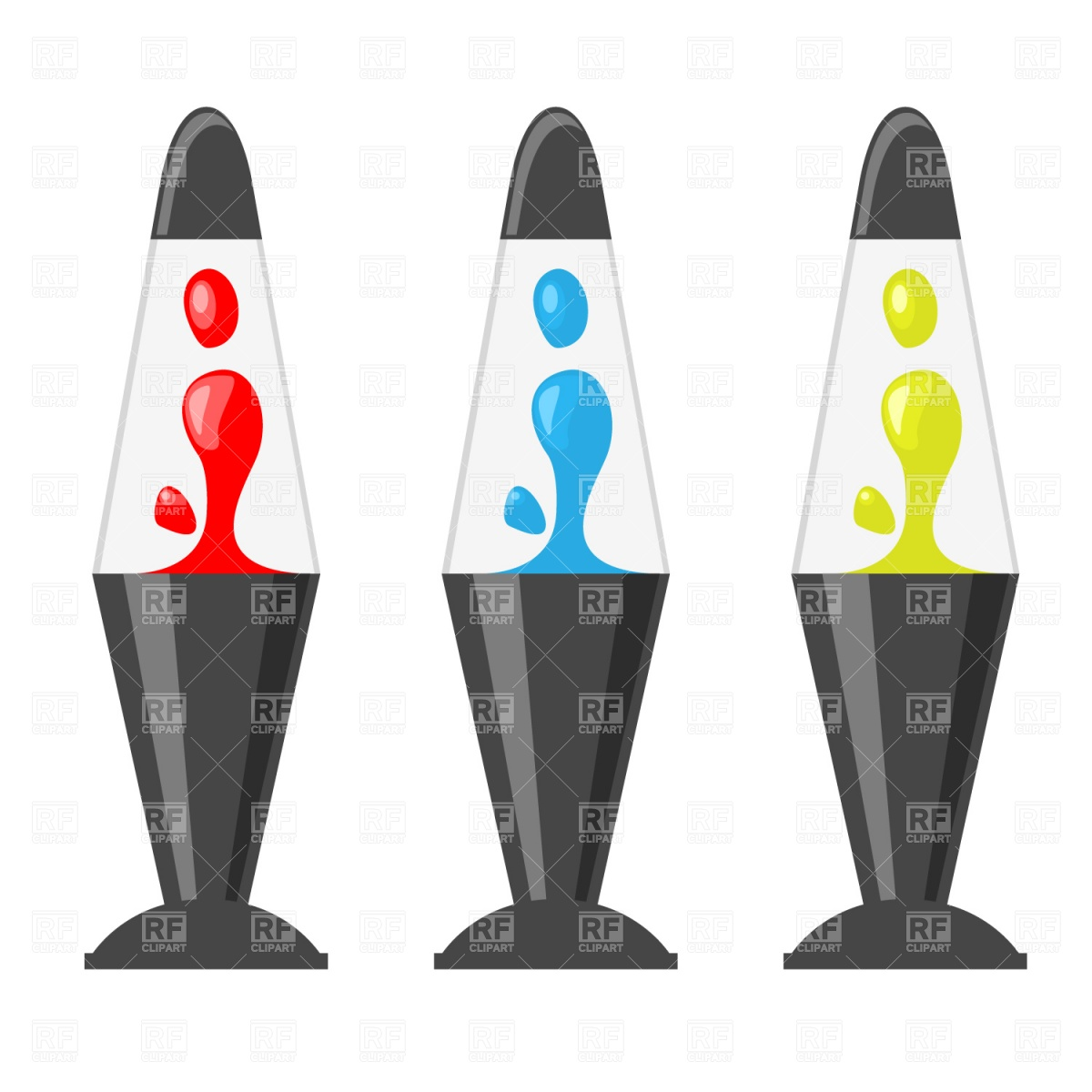 1200x1200 Lava Lamp Royalty Free Vector Clip Art Image