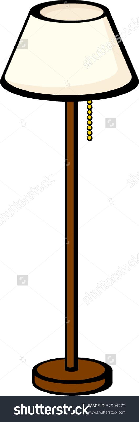 529x1600 Standard Lamp Clipart