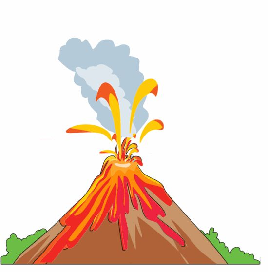 550x558 Eruption Clipart Landform