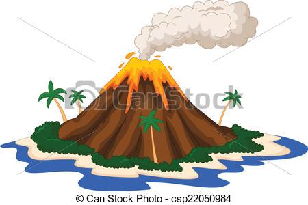 450x300 Drawn Island Volcano Island