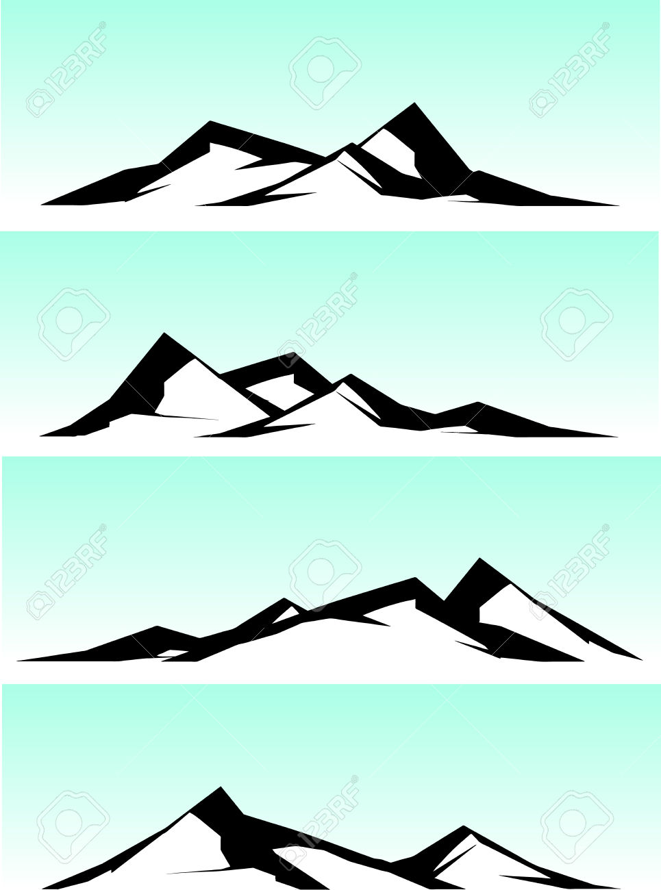 965x1300 Mountain Ridge Clipart Mountain Scenery