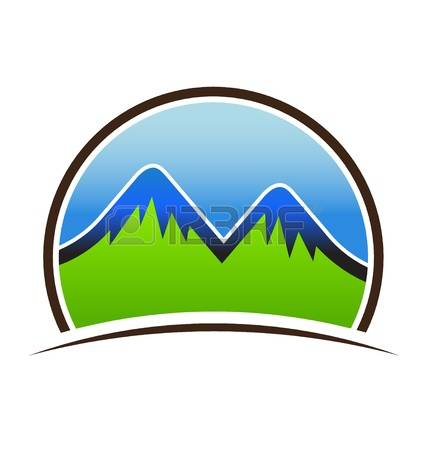 427x450 Peak Clipart Two Mountain