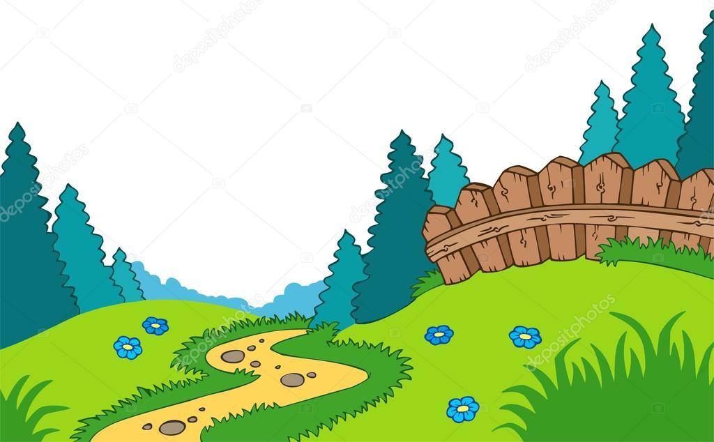 1024x634 Cartoon Country Landscape Stock Vector Clairev