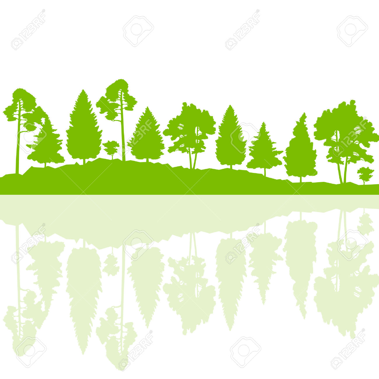 1300x1300 Forest Clipart Tree Landscape