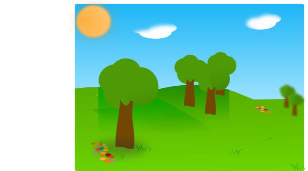 600x335 Landscape With Trees Clip Art