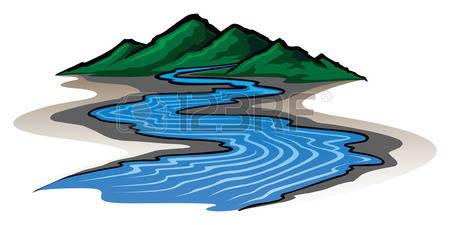 450x225 River Landscape Clipart Stream