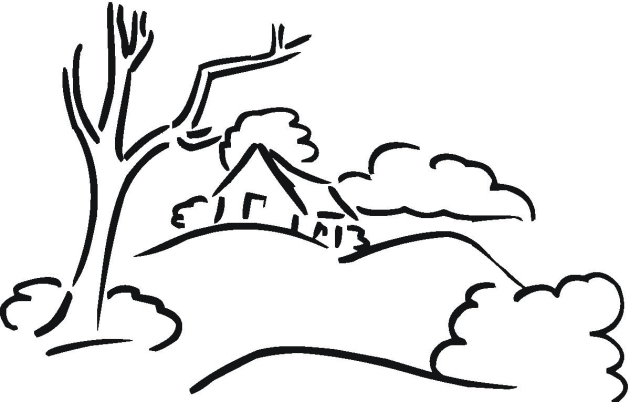 630x402 Free Landscape Coloring Pages